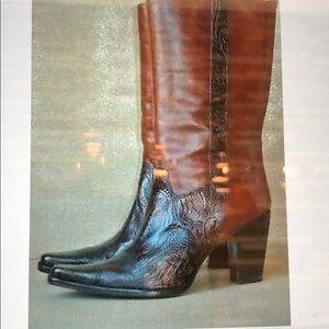 Beautiful Antonio Melani Brown Leather Boots!
